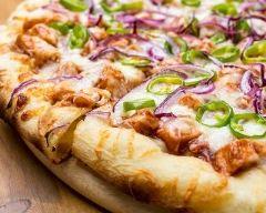 Recette pizza au poulet et fromage