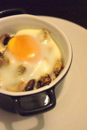 Recette oeuf cocotte aux champignons