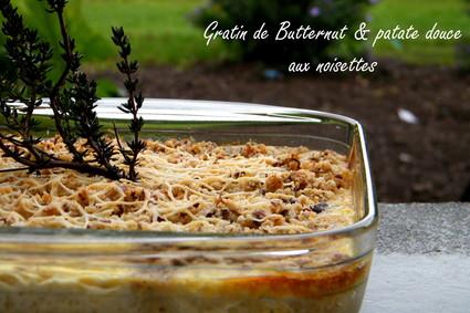 Recette de gratin de courge butternut et patate douce