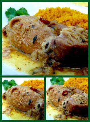 Recette epaule d'agneau confite aux épices à la cocotte
