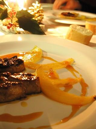 Recette de foie gras poêlé à la mangue et jus d'orange