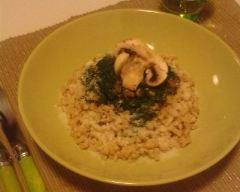 Recette coquillettes aux épinards, champignons et parmesan