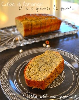 Recette de cake moelleux à l'orange et aux graines de pavot