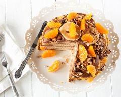 Recette gâteau de pancakes à l'orange, chocolat et noix de pécan ...