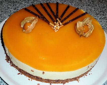 Recette entremet praliné abricot
