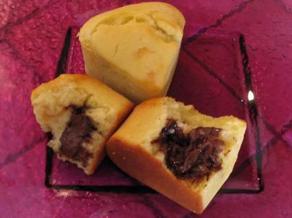 Muffins au petit coeurs fondant au chocolat