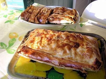 Recette de croustade saumon et coquilles saint-jacques