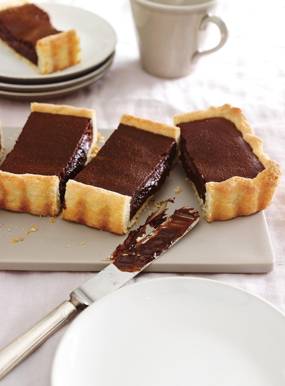 Tarte chaude et fondante au chocolat | ricardo