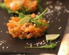 Recette tartare de saumon fumé au citron vert