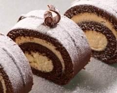 Recette bûche légère au chocolat et sa crème de vanille