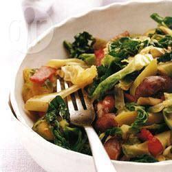 Recette poêlée de légumes verts aux châtaignes – toutes les ...