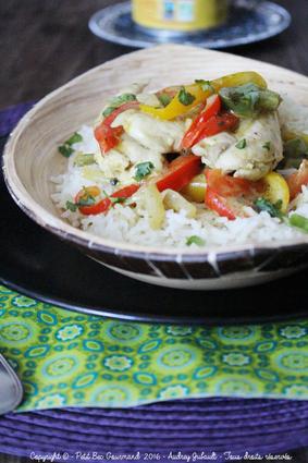 Recette de poulet au lait de coco curry jaune