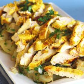 Salade épicée de poulet et de pommes de terre à l'indienne pour 4 ...