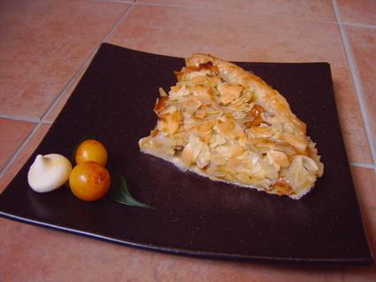 Recette de tarte aux mirabelles au croquant d'amandes