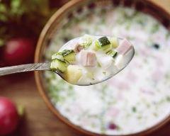 Recette soupe froide concombre-jambon