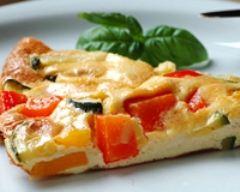 Recette omelette aux petits légumes grillés