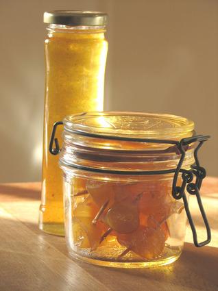 Recette de pamplemousse confit au miel et fleurs d'oranger