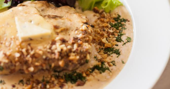 Recette de escalopes de veau à la crème fraîche légère et aux noix ...
