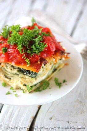 Recette de lasagnes végétariennes aux épinards frais, ricotta et ...