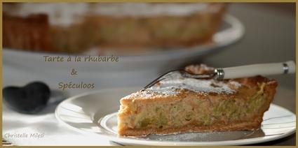 Recette de tarte à la rhubarbe et spéculoos