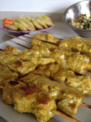 Recette de brochettes de thon aux épices douces