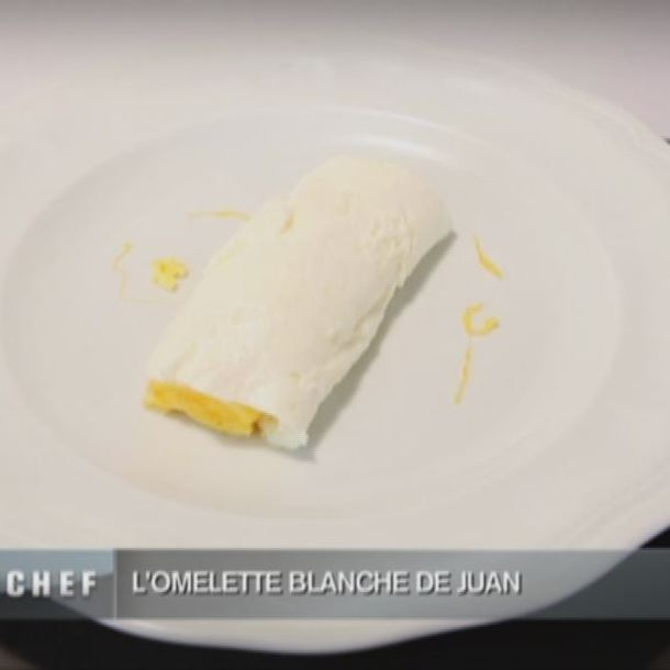 Recette omelette blanche et jaune avec jaune d'œuf filé