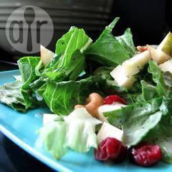 Recette salade composée aux fruits d'hiver, jus de citron et graines ...