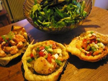 Recette de tartelette de saint-jacques aux petits légumes