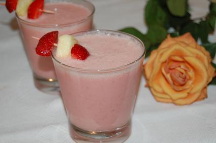 Recette de smoothie pomme-fraises