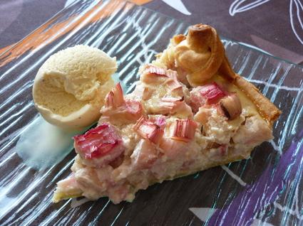 Recette de tarte à la rhubarbe et poudre d'amandes