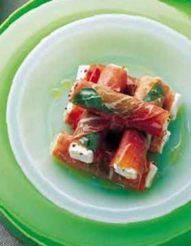 Jambon cru au fromage frais pour 2 personnes