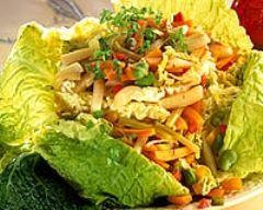 Recette chou farci au jambon et aux légumes