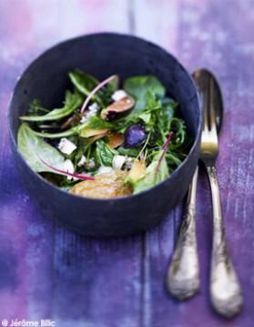 Salade de figues, jambon de parme, melon, feta pour 6 personnes ...