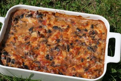 Recette de gratin d'aubergines, tomates cerises et oignons
