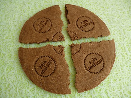 Recette de biscuit diététique géant chicorée cacao châtaigne et lin ...