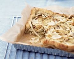 Recette tarte au fenouil et parmesan