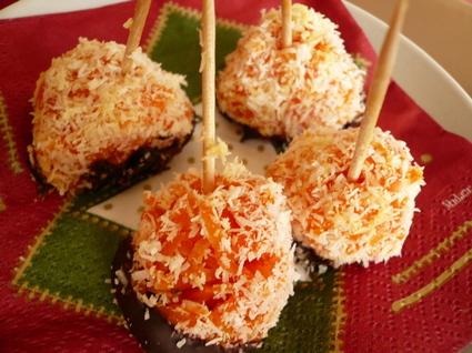 Recette de petits rochers orange à la carotte