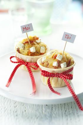 Recette de muffins tomates confites, coppa et caprice des anges