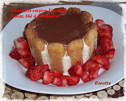 Recette de charlotte aux fraises, version tiramisu