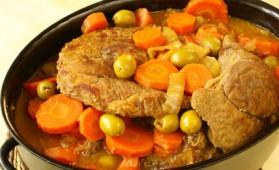 Veau aux olives et aux carottes pour 4 personnes