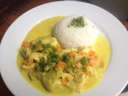 Recette de poulet au curry facile et rapide