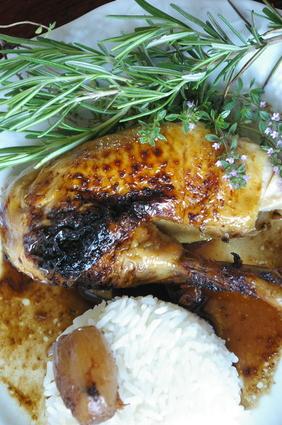 Recette de poulet au vinaigre balsamique, épices et miel