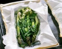 Recette asperges vertes en papillottes