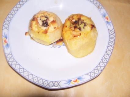 Recette de pommes au four, raisins et amandes grillées