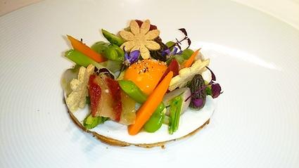Recette oeuf au plat en tartelettes, légumes de printemps et ...