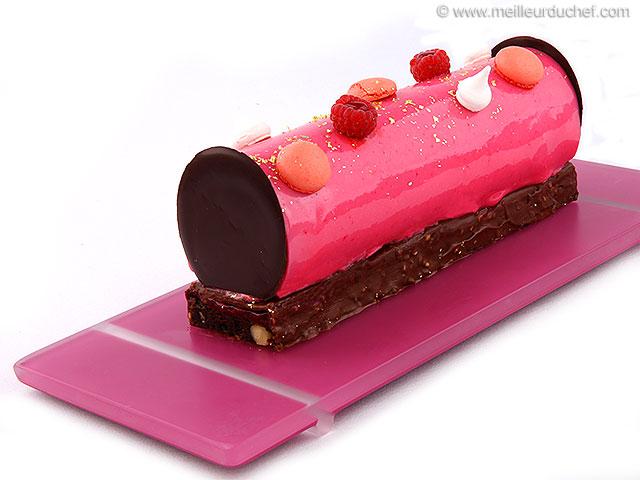 Entremets chocolat framboise sur brownie  fiche recette illustrée ...