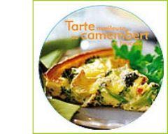 Recette tarte moelleuse au camembert et brocolis