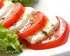Recette salade de tomates à la mozzarella