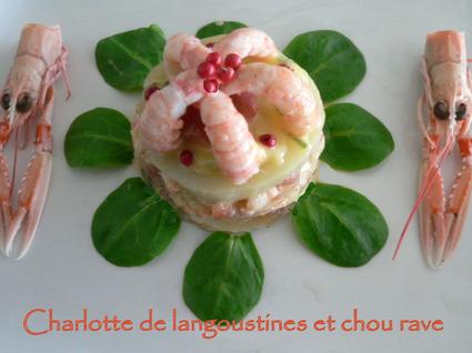 Recette de charlotte aux langoustines et chou rave