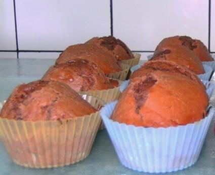 Recette de muffins au chocolat, coeur coulant